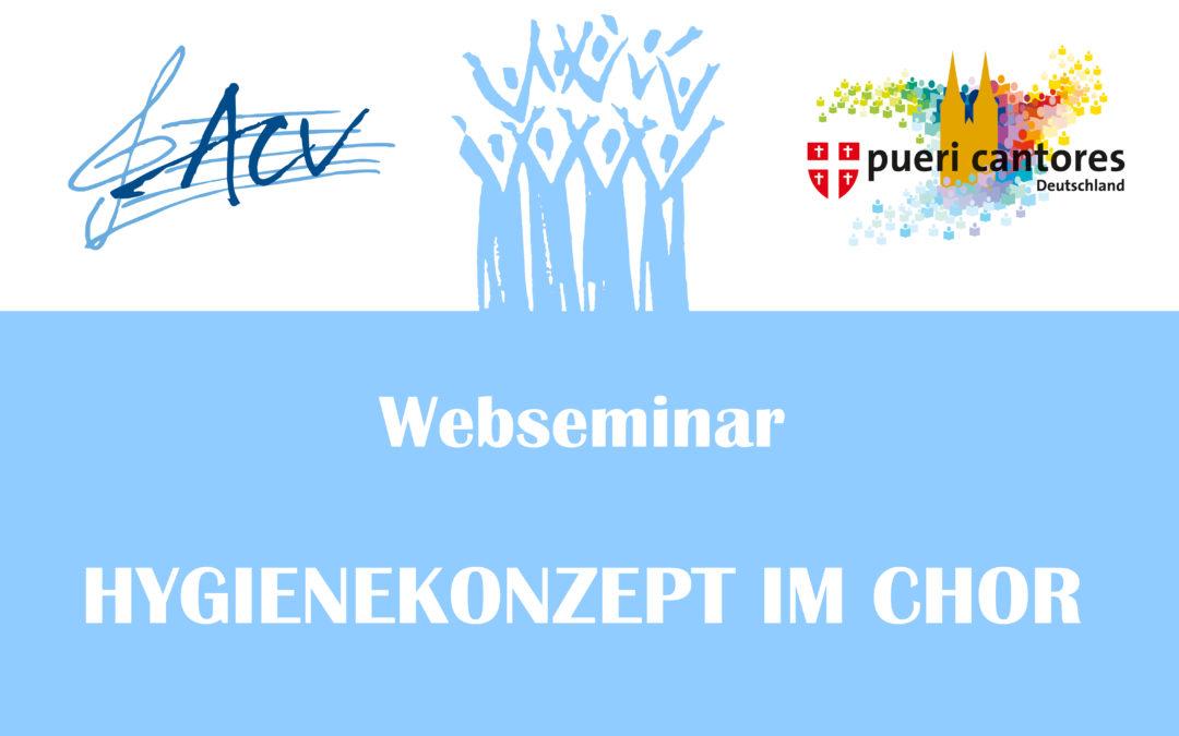 Webseminar des ACVs und Pueri Cantores für die Umsetzung des Hygienekonzeptes im Chor