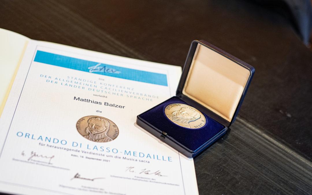 Orlando di Lasso-Medaille für Matthias Balzer